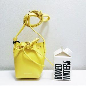 mansur gavriel yellow mini bucket baguette